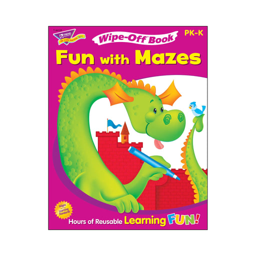 T94125 Wipe Off Book Fun Mazes Cover