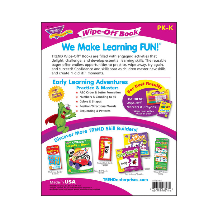 T94127 Wipe Off Book Early Learning Back Cover