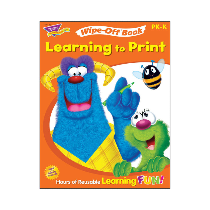 T94145 Wipe Off Book Learn to Print Cover