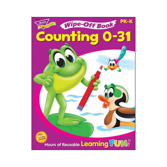 T94215 Wipe Off Book Counting 0 to 31 Cover