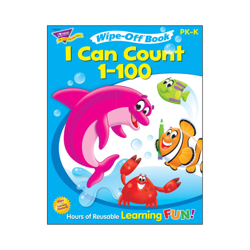 T94223 Wipe Off Book Sea Life Count 1 to 100 Cover