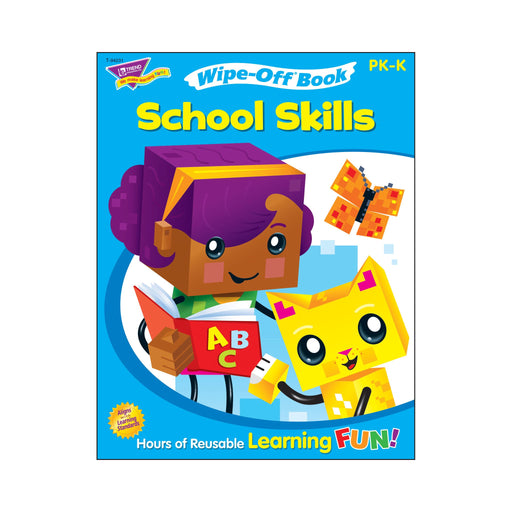 T94231 Wipe Off Book School Skills Cover