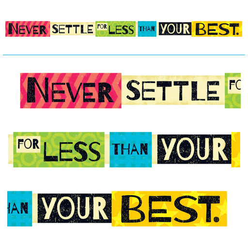 TA25212 Banner 10 Feet Never Settle