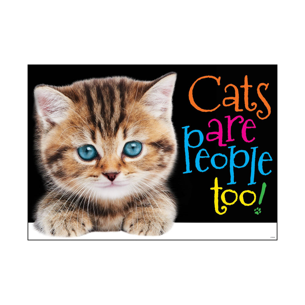 TA67084 ARGUS Poster Cats are people