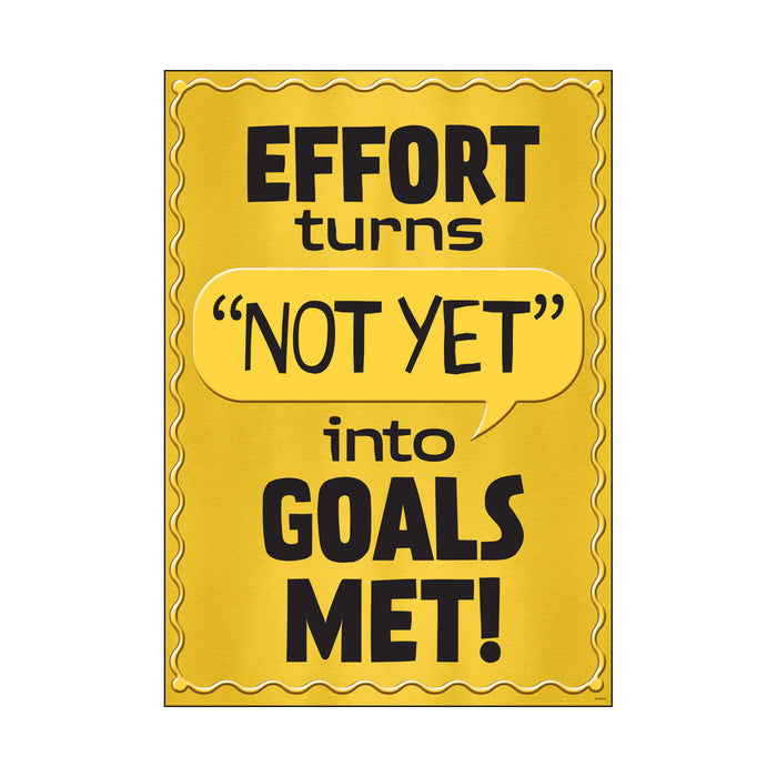 Effort turns NOT YET into… ARGUS® Poster