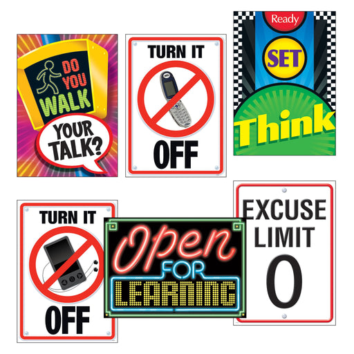 TA67921 ARGUS Poster Pack Learn Signs