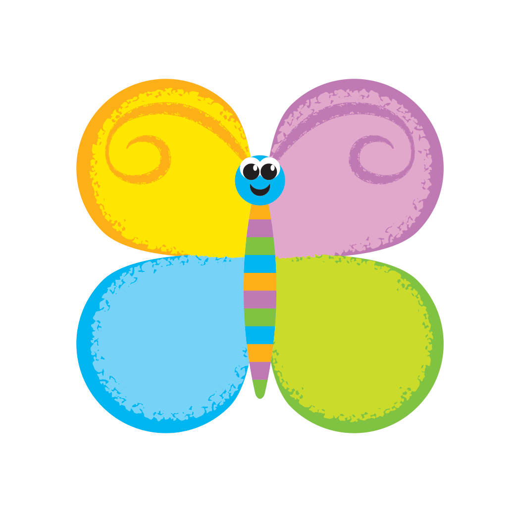 Butterfly card from COUNTERpillar Card Game for kids