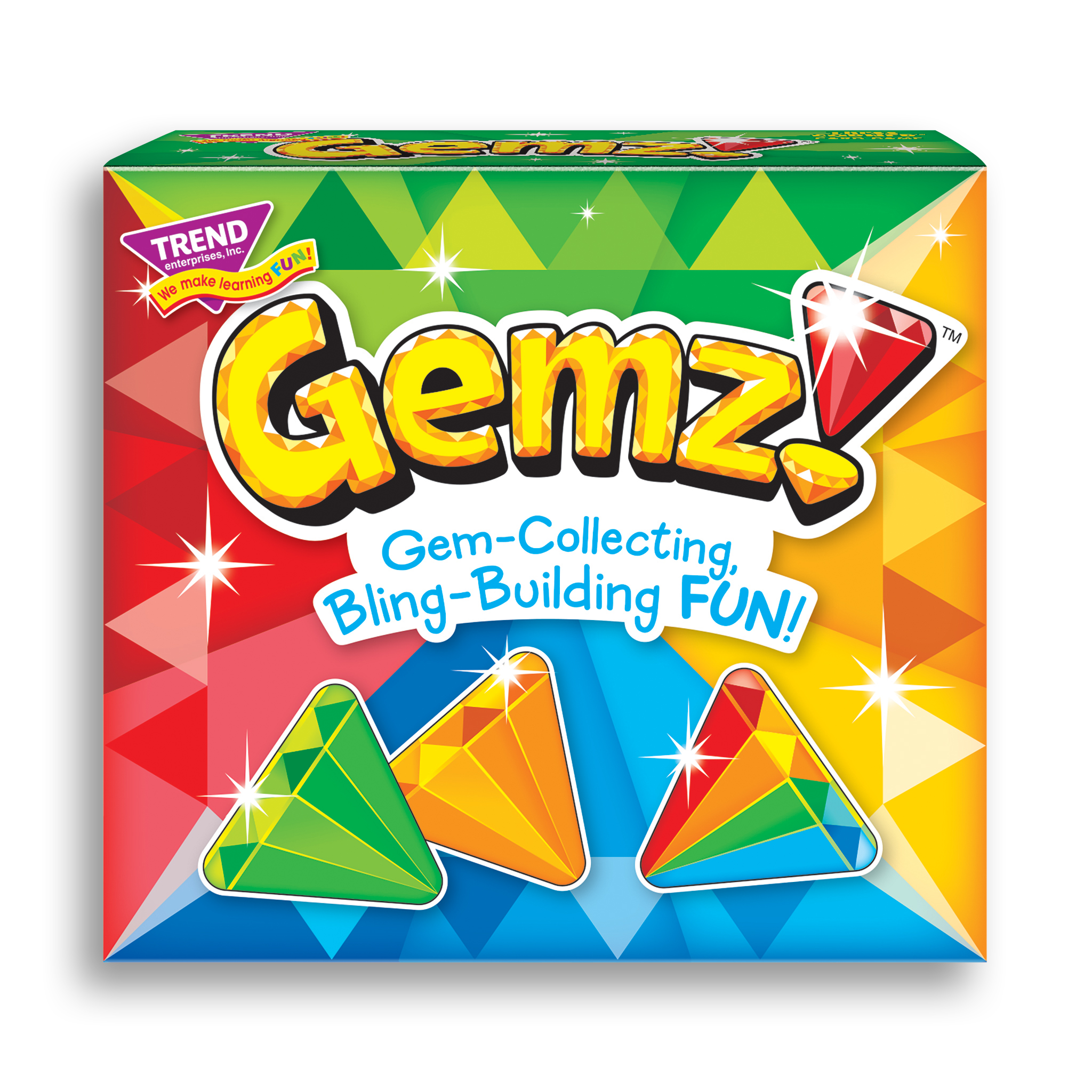 Product image of game box for Gemz!™ Three Corner™ fun card game for kids