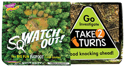 sqWATCH OUT!™ game box. Great game to play at home with the kids. Easy to learn, quick to play. Made in USA