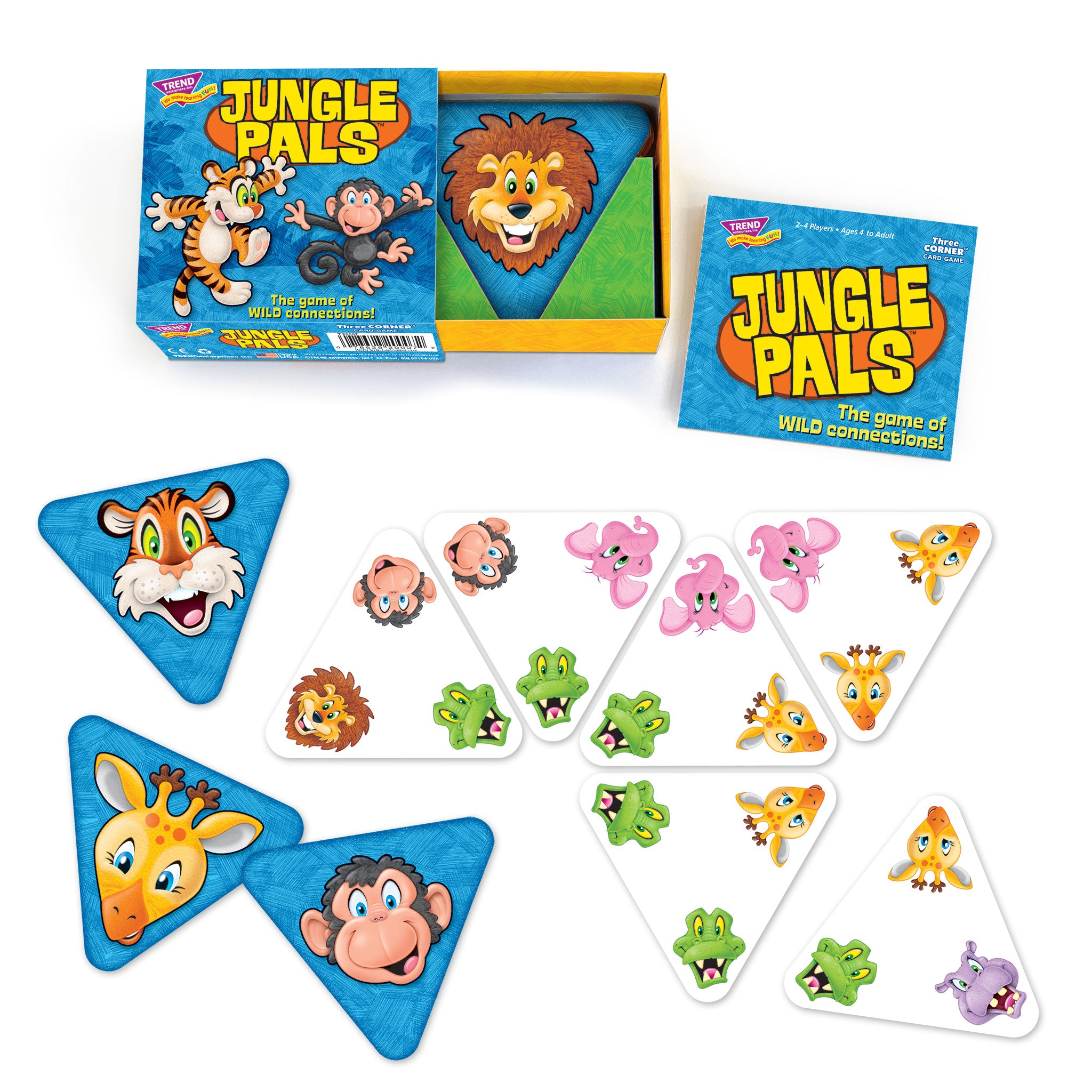 Jungle Pals card game triangle cards