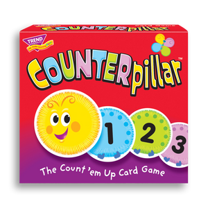 Product image of game box for COUNTERpillar™ fun card game for kids