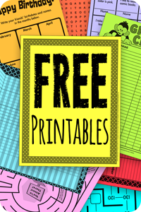 free worksheets for school at home
