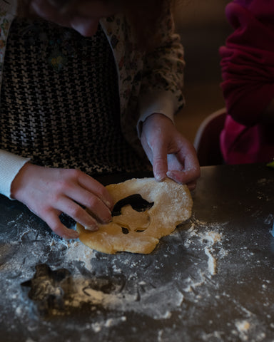 Christmas Making Cookies with children