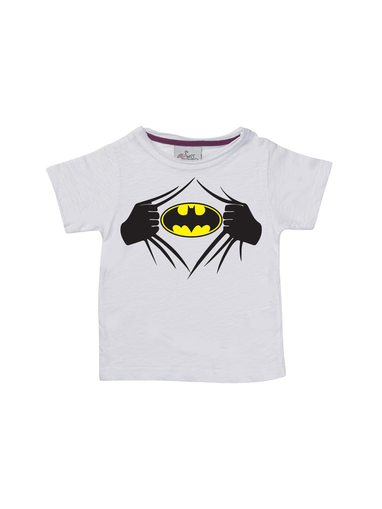 Boy White Batman Shirt