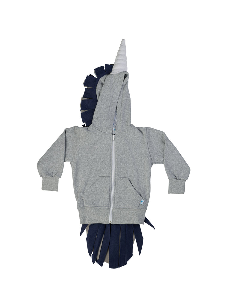grey unicorn hoodie for boy miss flamingo kids