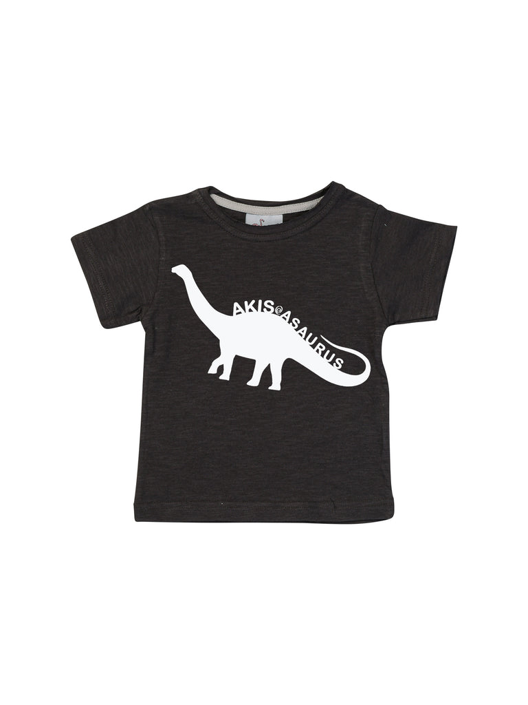 Boy Personalized Black Dinosaur Shirt