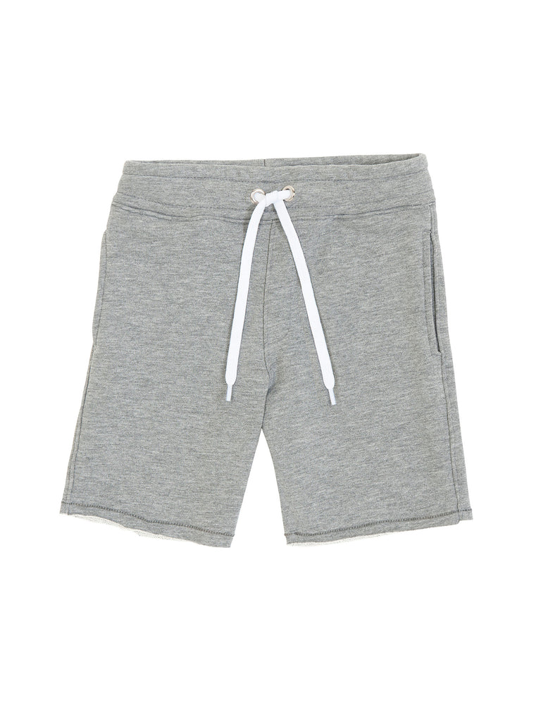 Boy Grey Cotton Fleece Shorts