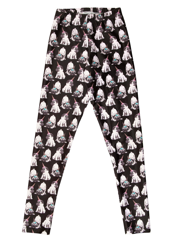 pug elastic legging for girl miss flamingo kids