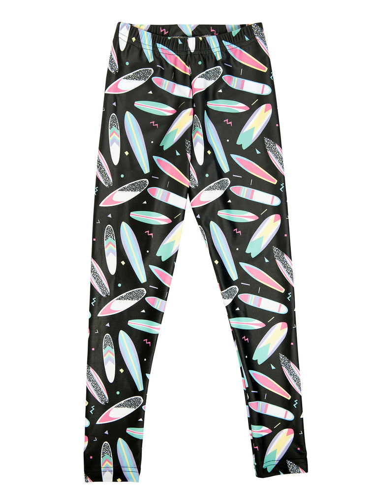 surfboard fun legging for girl miss flamingo kids