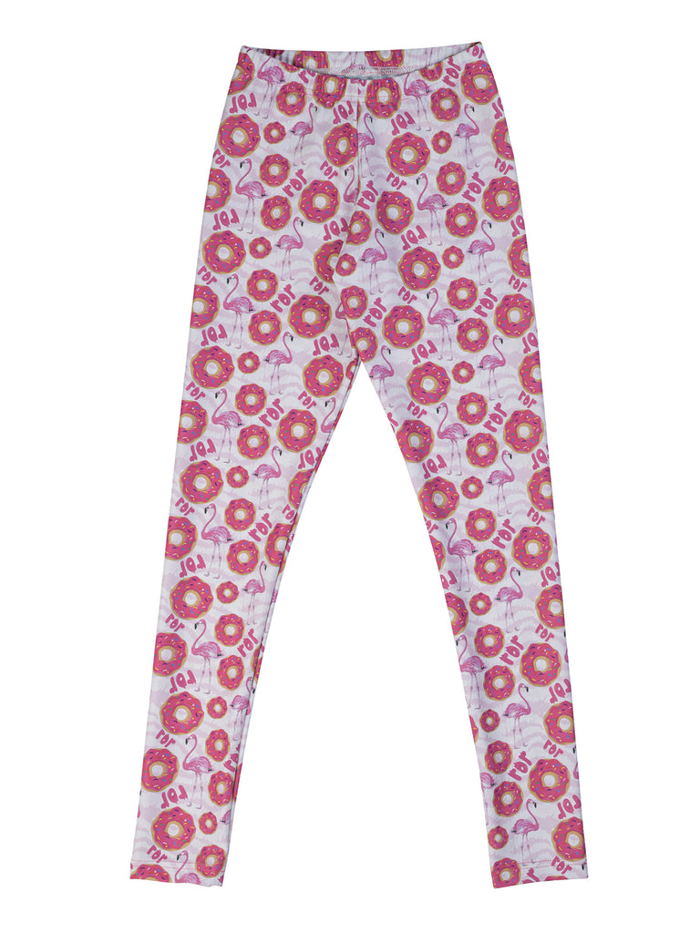 pink flamingo donut legging for girl miss flamingo kids