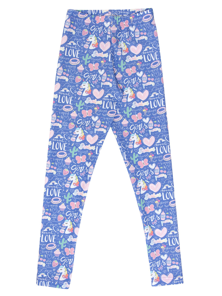 unicorn and donuts elastic legging for girl miss flamingo kids