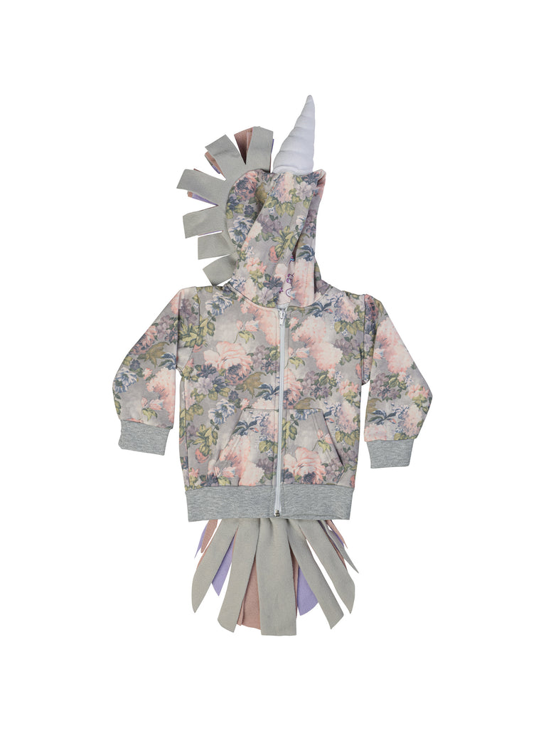 floral unicorn hoodie for girl miss flamingo kids