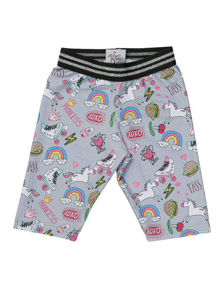 cool girl biker shorts for girl miss flamingo kids