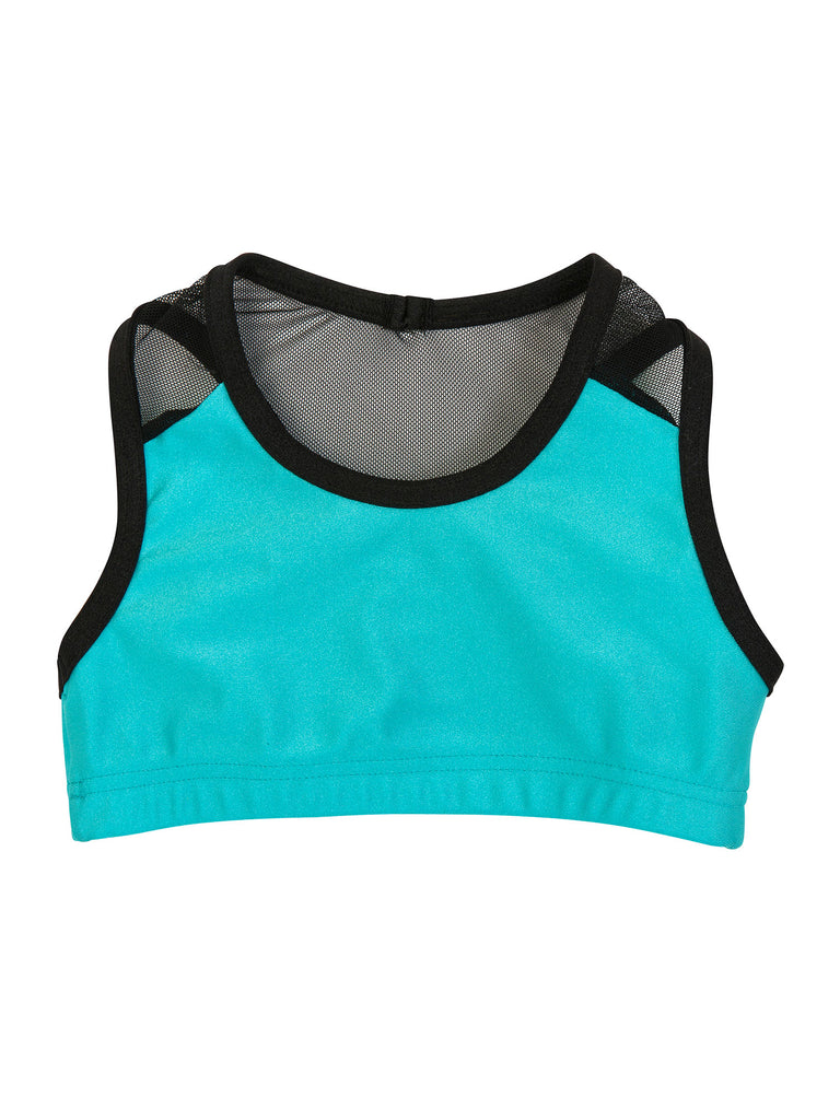aqua lycra sports top for girl miss flamingo kids