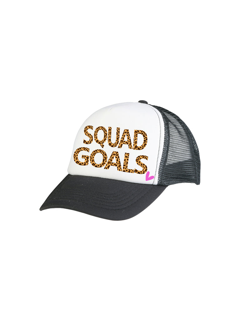 black squad goals trucker hat for girl miss flamingo kids