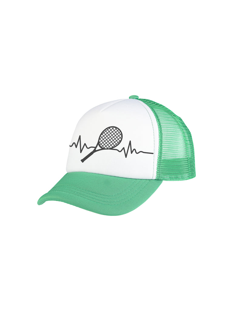 Boy Green Tennis Rate Trucker Hat