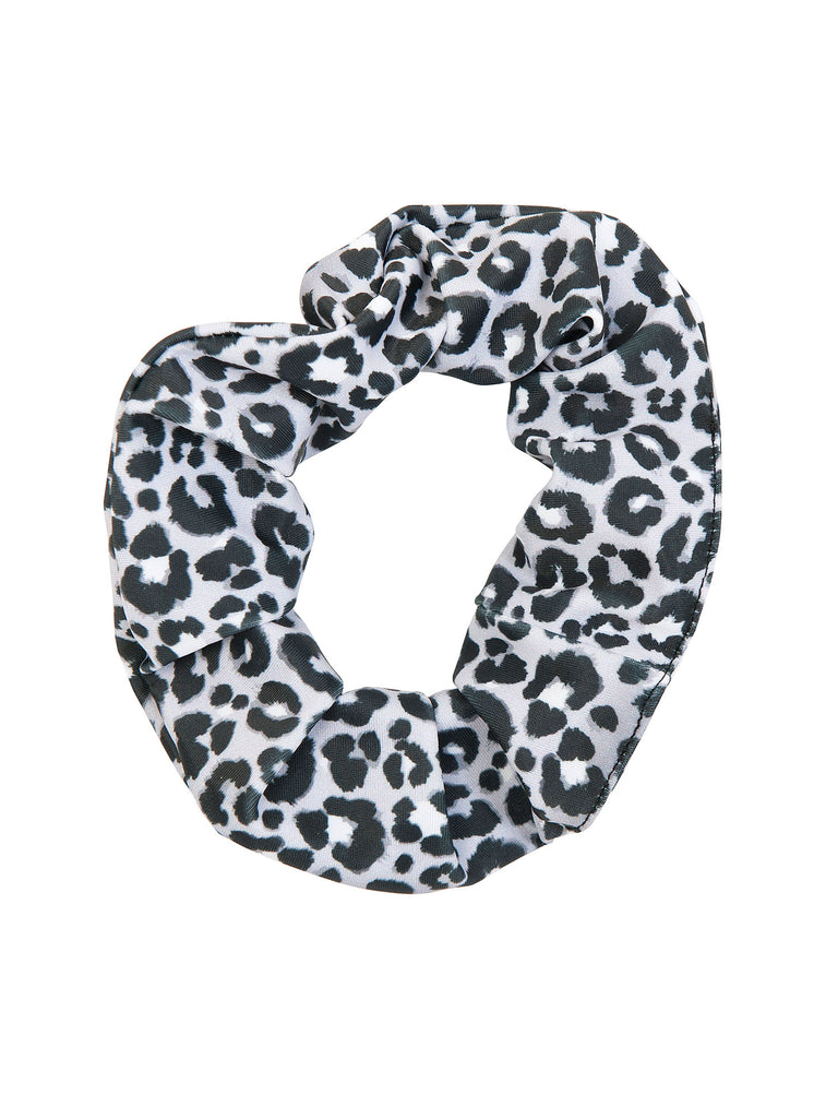 grey leopard girl scrunchies for hair miss flamingo kids