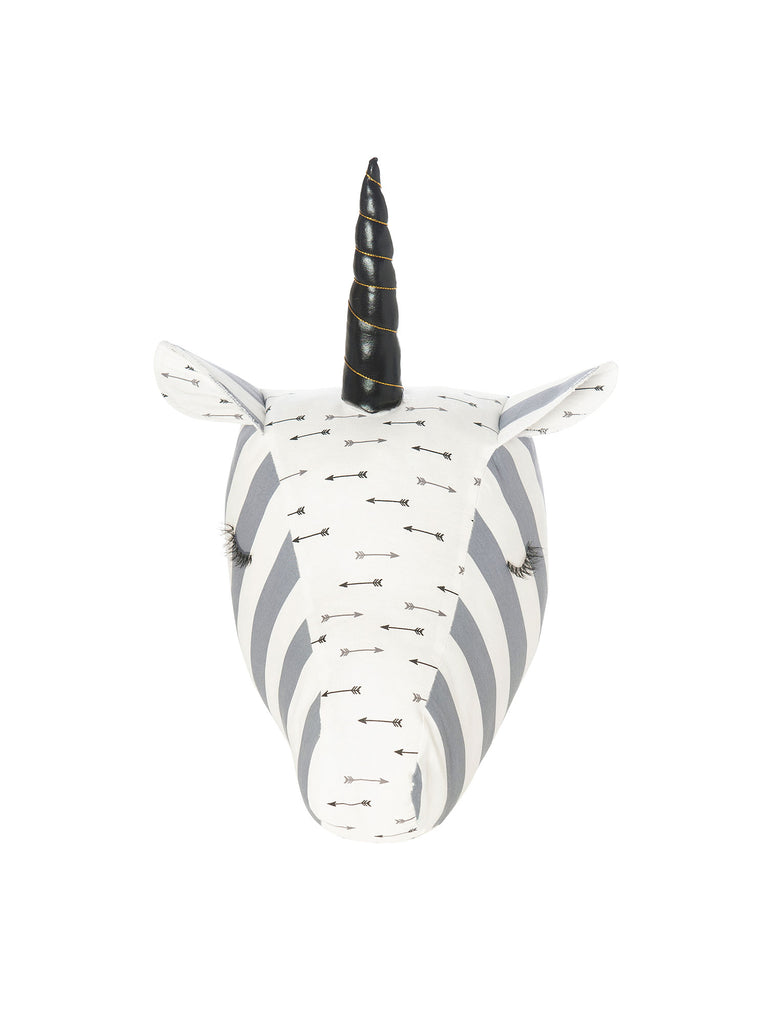 grey unicorn head wall decor for room miss flamingo kids