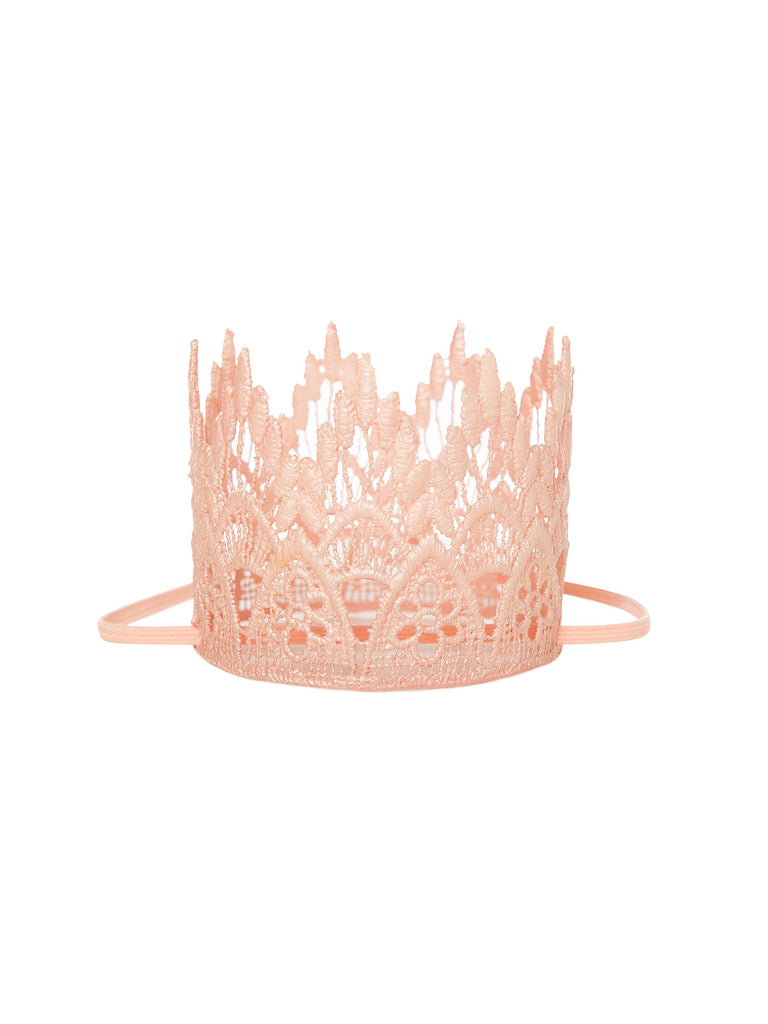 pink lace crown headband for hair miss flamingo kids