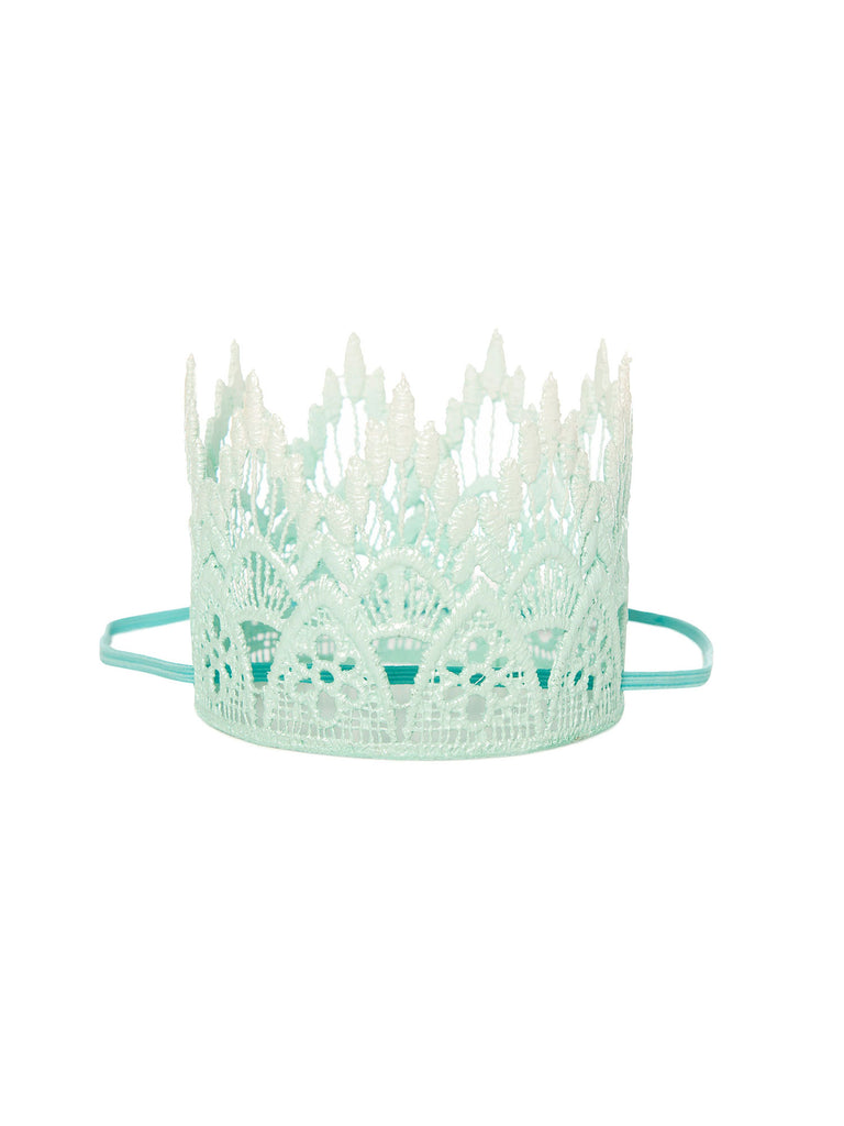 blue lace crown headband for hair miss flamingo kids