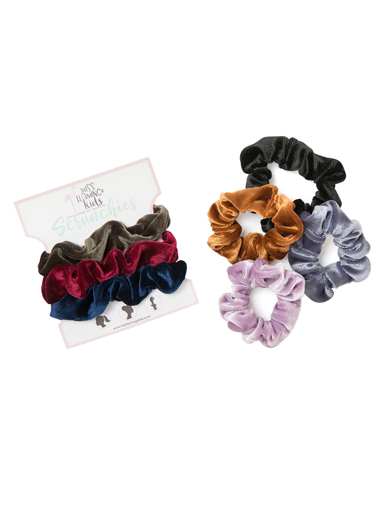 Girl Pick 'n' Mix Small Velvet Scrunchies For Hair