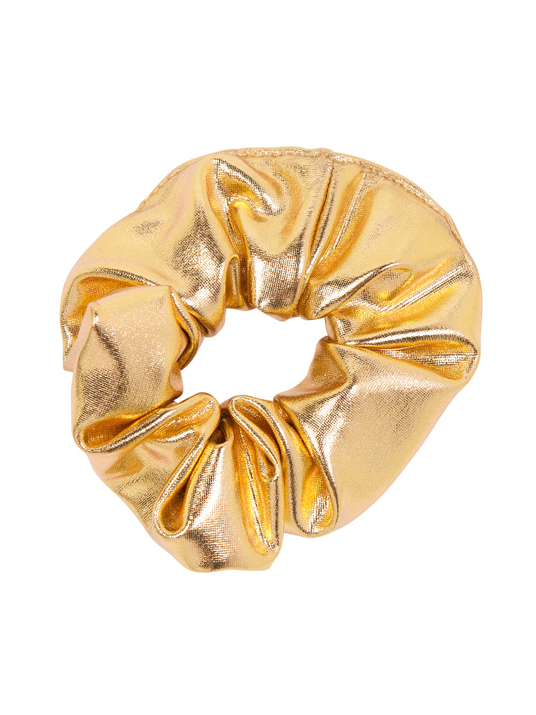 Girl Gold Scrunchies for Hair