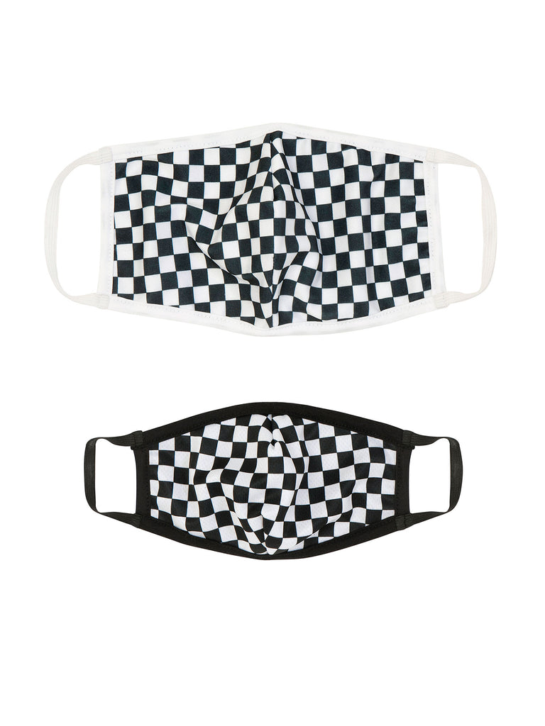 Girl Black/White Checkerboard Reusable Mask for Face