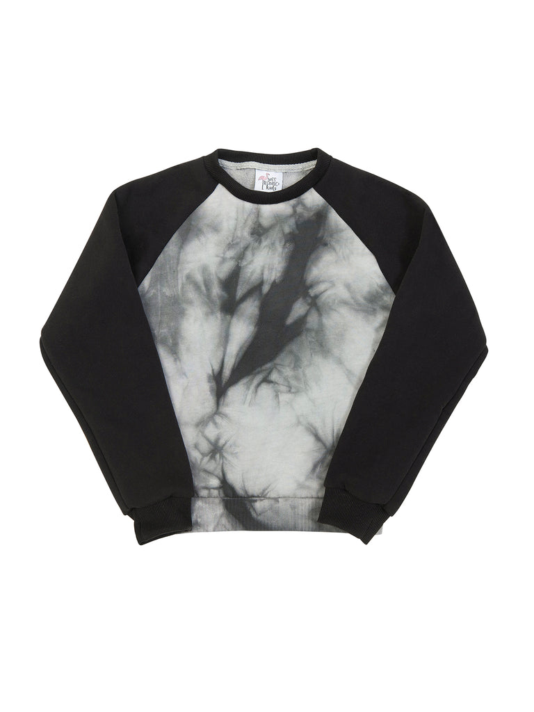 Girl Black Tie-Dye SweatShirt