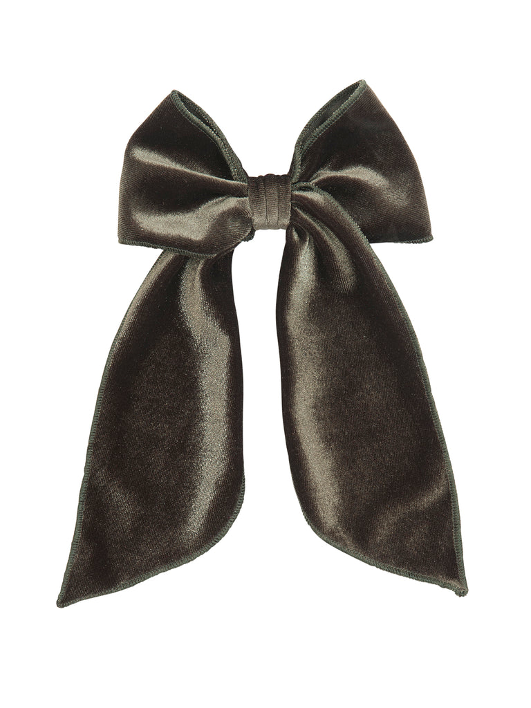 Girl Green Pickle Velvet Bow for Hair