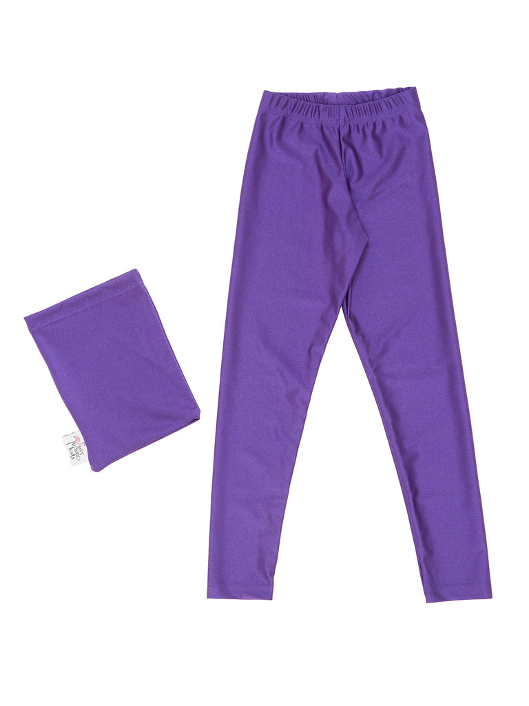 Girl Violet Lycra Leggings
