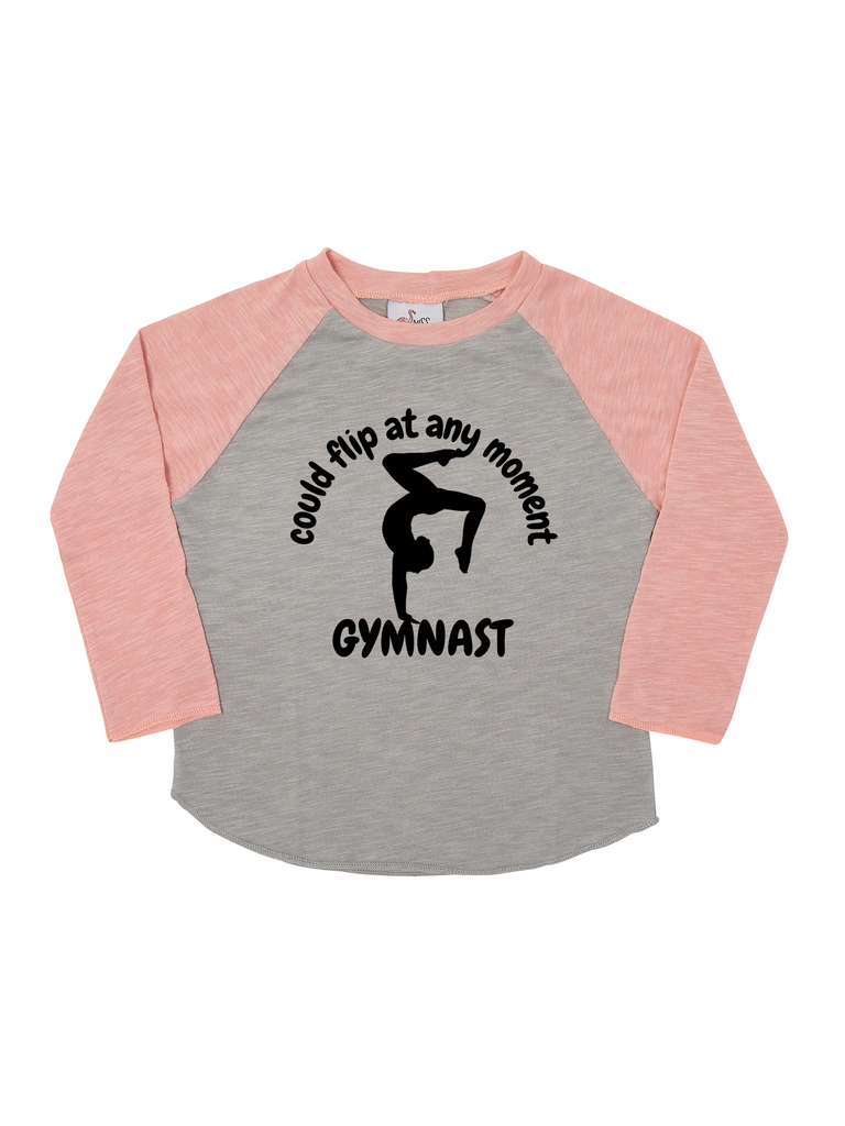 Girl Rose Gymnast Long Sleeve Shirt