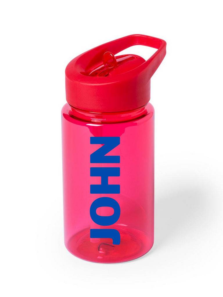 Boy Red Personalized Water Bottle