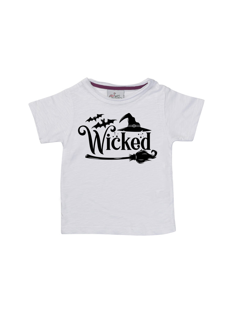 Boy Wicked Halloween White Shirt