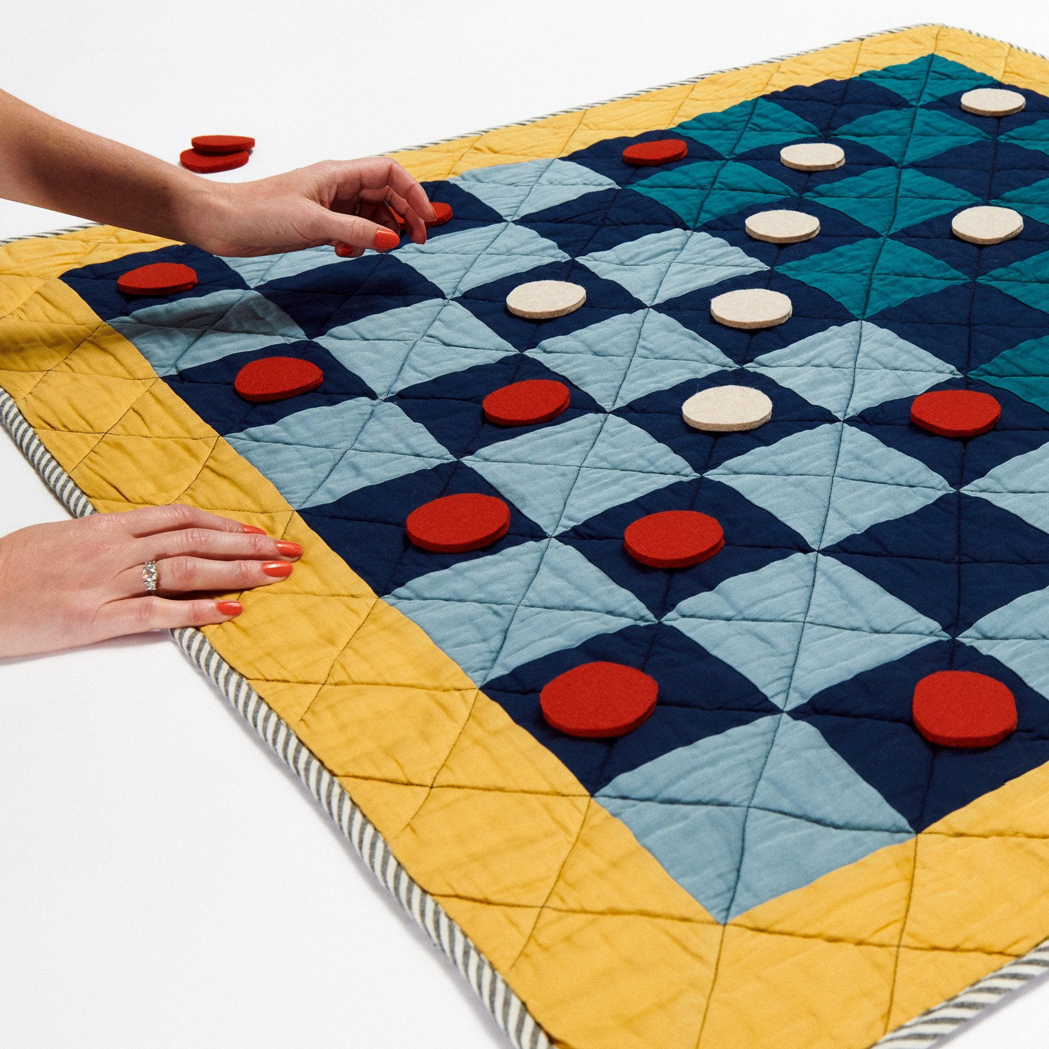 Checkers 36X36 Game Quilts