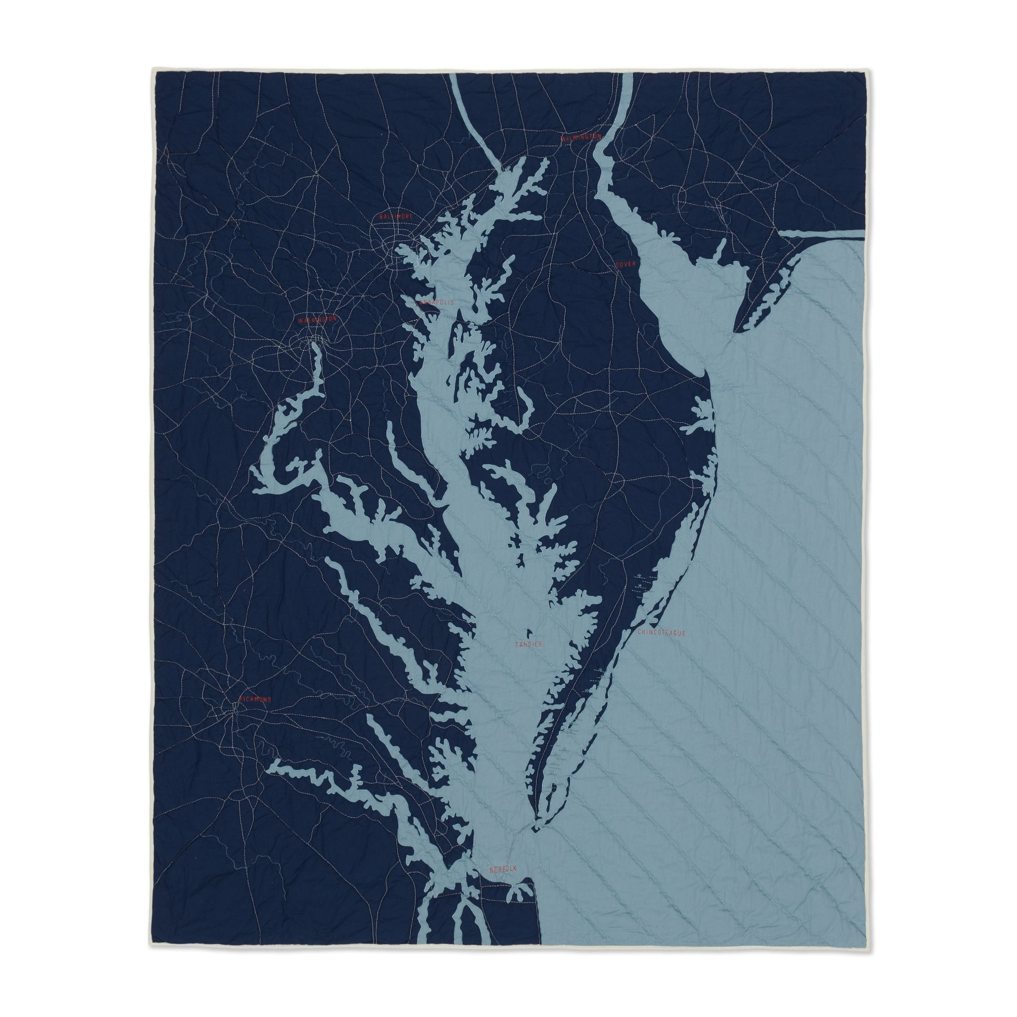 Chesapeake Bay Quilt Navy Coastal Quilts