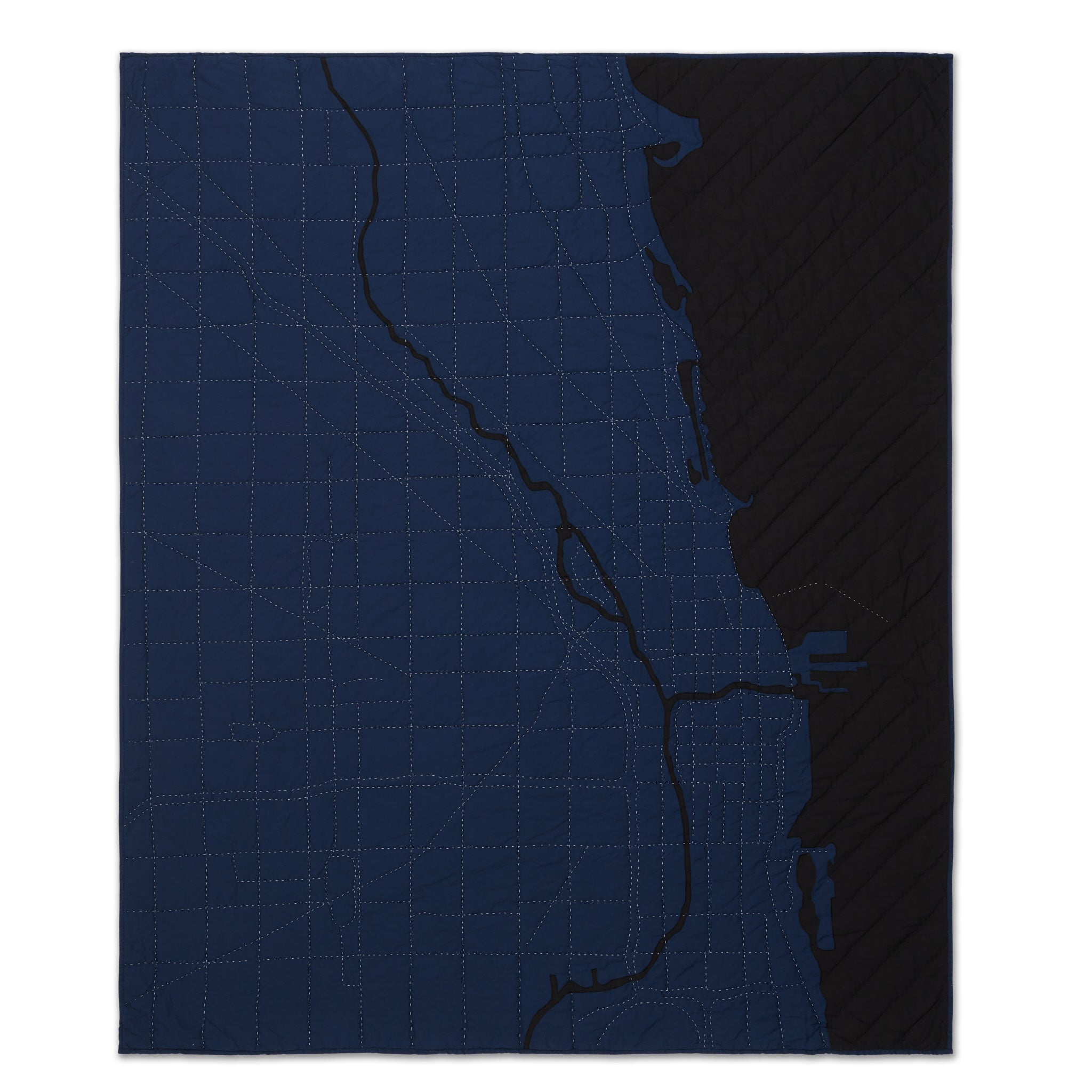 Chicago Throw / Navy City Quilts