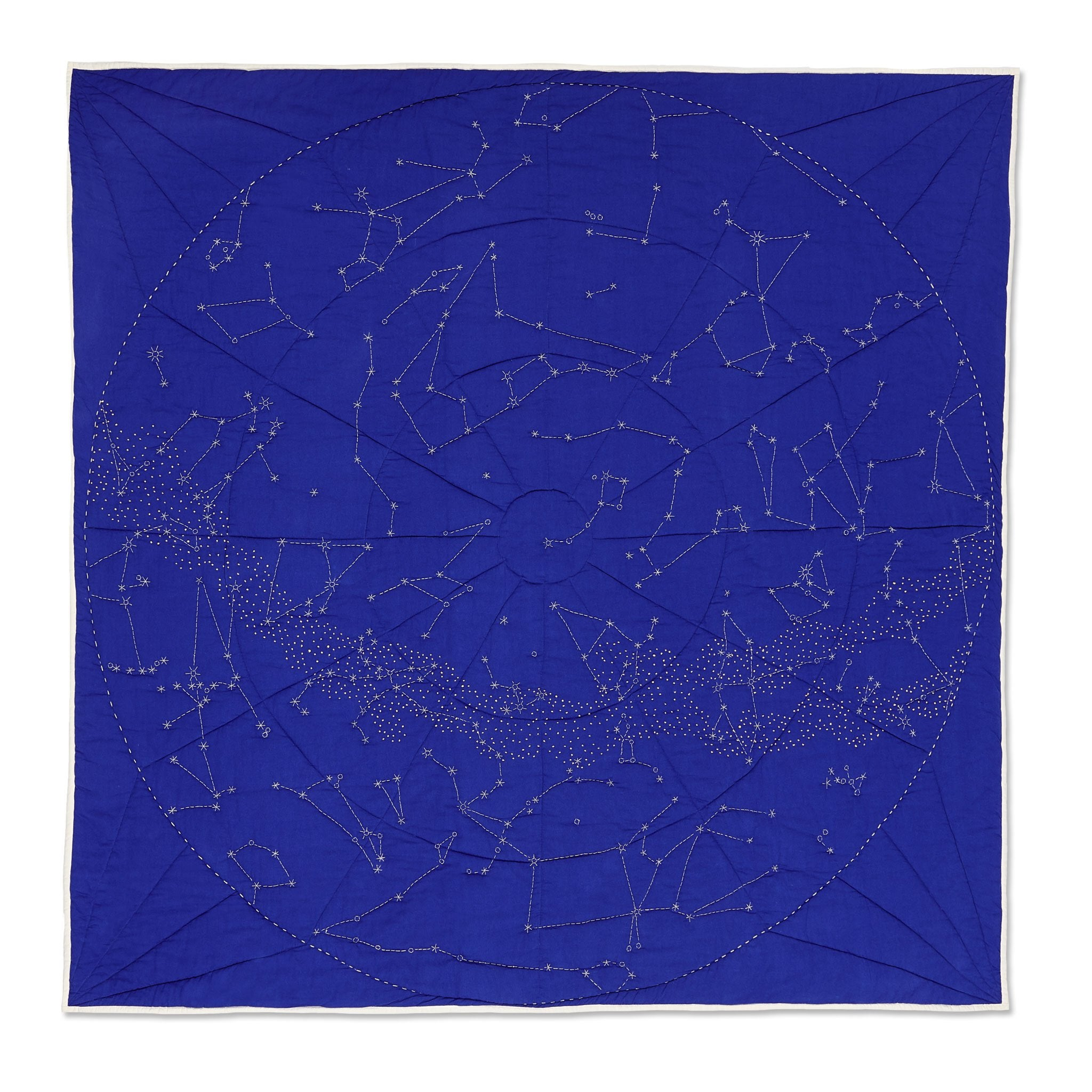 Organic Constellation Quilt - Cobalt