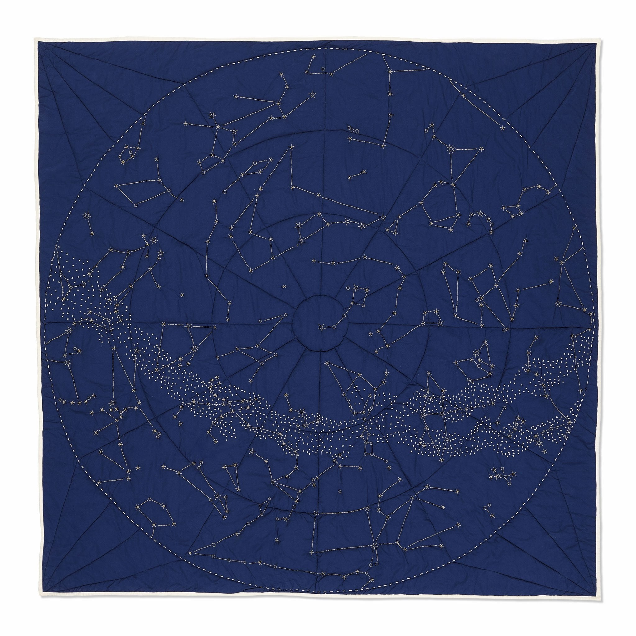 Organic Constellation Quilt - Navy
