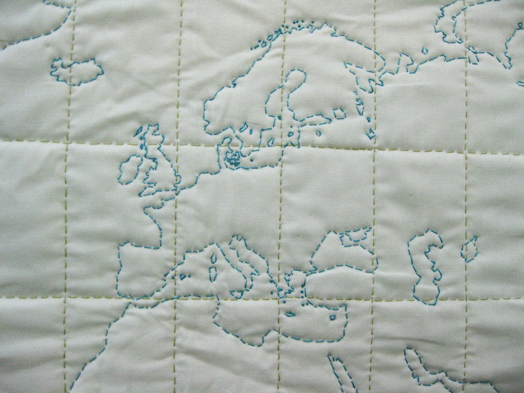 DIY Quilt - World Map