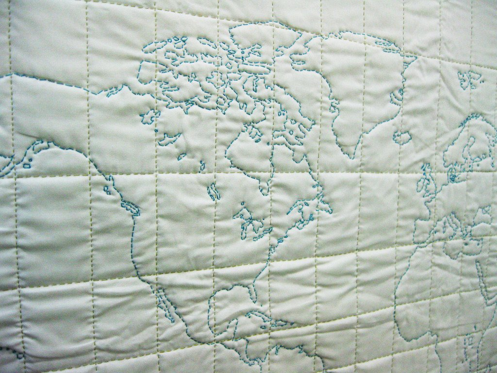 DIY - Map Quilting Kit of the World | Haptic Lab
